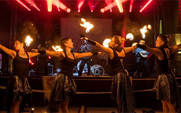 Fire Show with Live Music